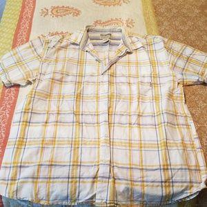 Men's button down short sleeve shirt